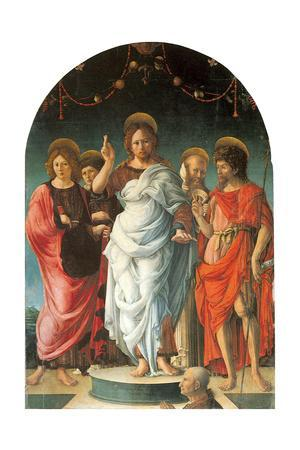 Salvator Mundi and Saints
