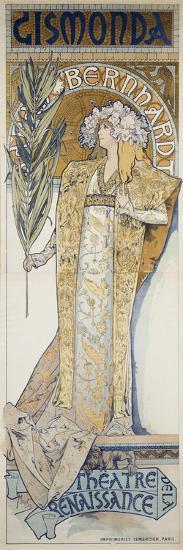 Gismonda, Theatre De La Renaissance, 1894-Alphonse Mucha-Giclee Print