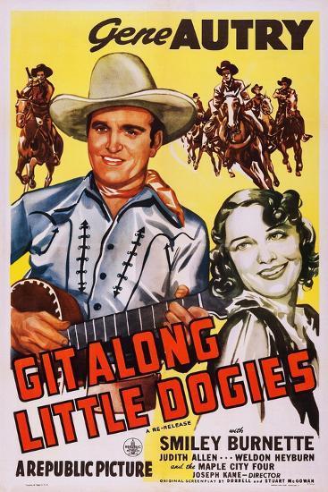 Git Along Little Doggies--Art Print
