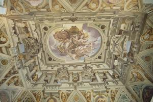 Fall of Phaeton, Fresco from the Ceiling of the Great Hall by Giulio Benso