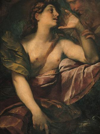 St Mary Magdalene Penitent and an Angel