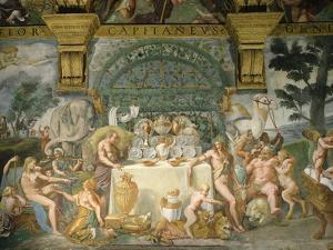Assembly of the Gods, Fresco, 1525-35 by Giulio Romano