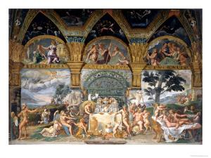 Bbanquet Celebrating the Marriage of Cupid and Psyche from the Sala Di Amore E Psiche, 1527-31 by Giulio Romano