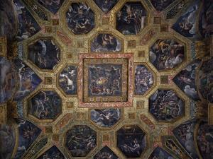 Chamber of Amor and Psyche, Frescoed Ceiling by Giulio Romano