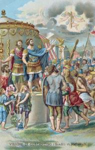 Constantine's Vision of the Cross, After the Fresco in the Sala Di Costantino, Raphael Rooms by Giulio Romano