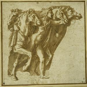 Dawn: Apollo with the Horses of the Sun by Giulio Romano