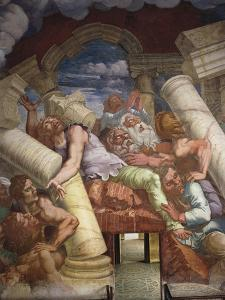 Frescoes in Chamber of Giants by Giulio Romano