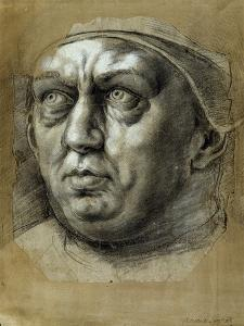 Head of Pope Leo X by Giulio Romano