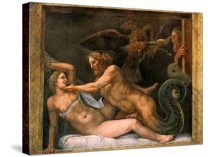 Jupiter and Olympia, 1526-1534 by Giulio Romano