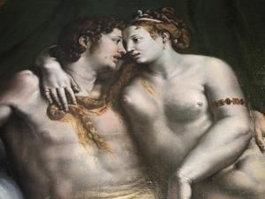 Love Scene, 16th Century by Giulio Romano