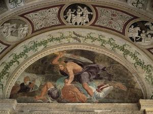 Lunette Showing David and Goliath by Giulio Romano