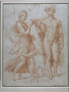 Mercury Offers the Cup of Immortality to Psyche by Giulio Romano