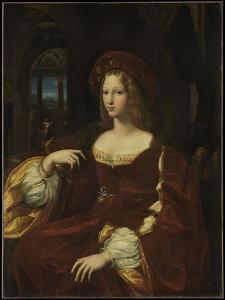 Portrait of Doña Isabel de Requesens y Enríquez de Cardona-Anglesola, c.1518 by Giulio Romano