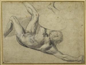 Study for Warrior Fallen in the 'Battle of Constantine', Sala Di Costantino by Giulio Romano