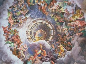 The Gods of Olympus, Trompe L'Oeil Ceiling from the Sala Dei Giganti, 1528 by Giulio Romano