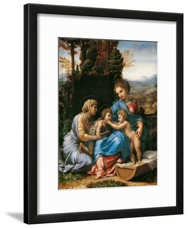 The Holy Family with John the Baptist as a Boy and Saint Elizabeth (La Petite Sainte Famill)