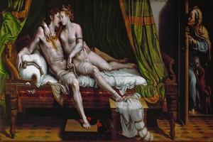 The Lovers. (1524-1526) by Giulio Romano