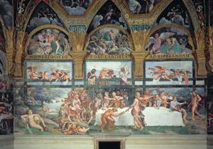 The Rustic Banquet Celebrating the Marriage of Cupid and Psyche, from Sala Di Amore E Psiche, 1528 by Giulio Romano