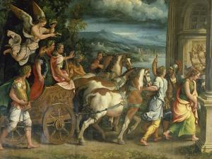 The Triumph of Titus and Vespasian, C. 1537 by Giulio Romano