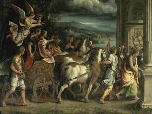 The Triumph of Titus and Vespasian by Giulio Romano