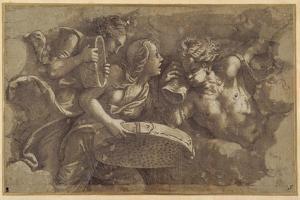 The Vestal Tuccia with the Sieve by Giulio Romano