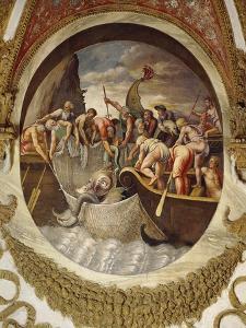Tondo Showing a Whaling Scene by Giulio Romano