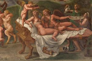 Wedding Feast of Cupid and Psyche, Detail by Giulio Romano
