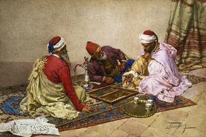 The Backgammon Players by Giulio Rosati