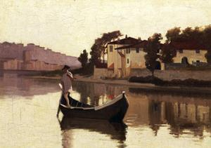 Arno at Casaccia, 1863 by Giuseppe Abbati