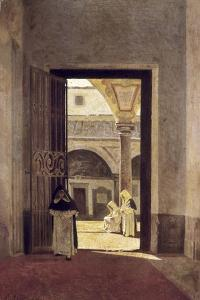 Hallway of a Dominican Convent by Giuseppe Abbati