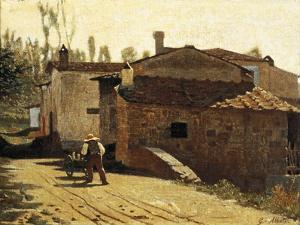 Piagentina Milkman, 1864 by Giuseppe Abbati
