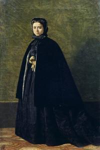 Portrait of Teresa Fabbini, Circa 1865 by Giuseppe Abbati