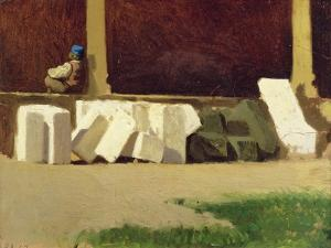 The Cloister by Giuseppe Abbati