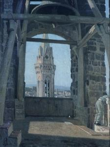 Tower of Palazzo Del Podesta by Giuseppe Abbati
