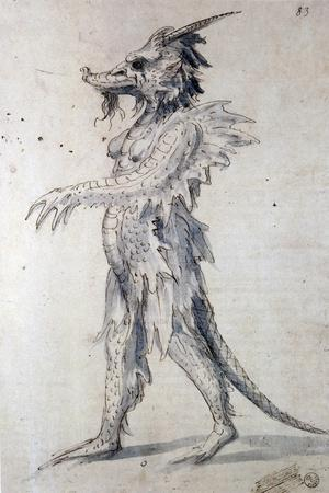 Costume Design for a Costume for a Dragon, 16th Century