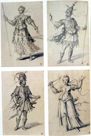Costume Designs for Classical Deities, 16th Century
