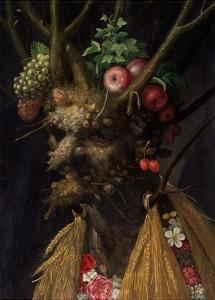 Four Seasons in One Head by Giuseppe Arcimboldo by Giuseppe Arcimboldo