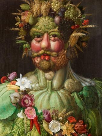 Rudolph II Of Hapbsburg Asvertumnus by Giuseppe Arcimboldo