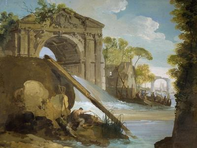 Imaginary View: River with Fishermen and Ruins