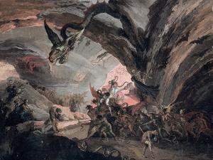 Pluto and a Harlequin in Hell by Giuseppe Bernardino Bison