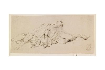 Two Male Figures (Study for the Resurrection)