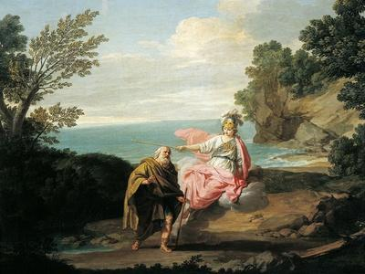 Ulysses Transformed by Athena into Beggar, 1775