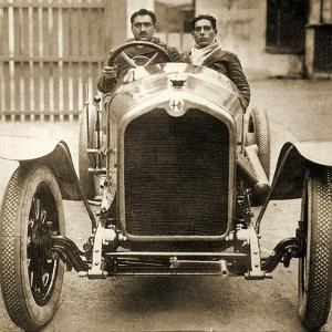 Giuseppe Campari and Teammate in an Alfa Romeo at the Targa Florio, Sicily, 1924