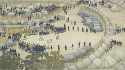 Les chasses de Moulan : le campement by Giuseppe Castiglione