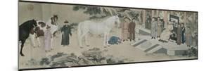 Qazaq présentant len tribut leurs chevaux à l'empereur Qianlong by Giuseppe Castiglione