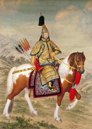 The Qianlong Emperor in Ceremonial Armour on Horseback by Giuseppe Castiglione