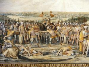 Combat Between Horatii and Curiatii by Giuseppe Cesari