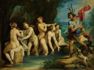 Diana and Actaeon, Ca 1604 by Giuseppe Cesari