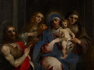 Madonna and Child with Saints John the Baptist, Mary Magdalene and Anne, C.1595 by Giuseppe Cesari