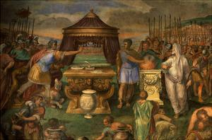 Mucius Scaevola Deliberately Burning His Hand in a Brazier before Etruscan King Porsena by Giuseppe Cesari